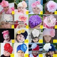 winter Big flower cute hat &wave point dot skull turbans beanies Cotton kids Cap Christmas nino cap #2B1969 10 pcs/lot(16 style)