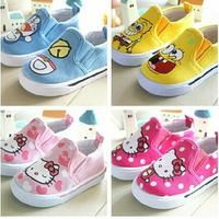 Super quality 1pair Brand Children Canvas Shoes, Antislip KITTY  Kid cartoon sport Sneaker, Breathable,  Kid Girl/Boy soft Shoes