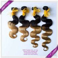 Two tone black blonde Ombre Brazilian hair weave bundles Best 6A Brazilian virgin hair body wave 3pcs lot Human hair extensions