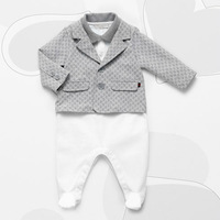 2014 new Brand winter children clothing baby boy clothes boy rompers set long sleeve with coat outerwear jacket 3-24M newborn