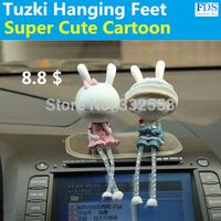 Direct Automobile Ornaments, Car Rabbit Doll Hanging Feet Chomsky, Cartoon Dolls Dolls, Resin Craft Jewelry