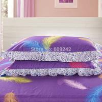 Free shipping 2pcs/lot 100% cotton decorative border pillowcase,hello kitty cartoon pillow cases cheap,pillow cover bedding