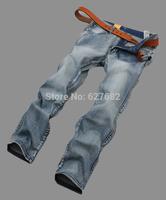 Hot sale! High Quality Washed Cotton Bleached Mans Famous Brand Fashion International Pants Retro Autumn Sports Jeans 28-36