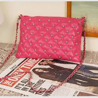 2014 New Fashion women bag rivet chain vintage envelope messenger bag women's day clutch leather handbags Tote Wholesale