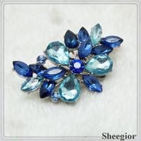 Vintage Crystal Ear cuff Rhinestone Flower Clip Earrings Fashion 2014 women earring
