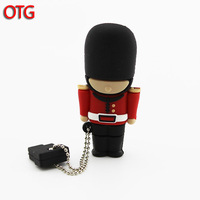 New Real 2gb 4gb 8gb 16gb 32gb Cartoon UK Guard OTG USB Flash Drive Pendrive Thumb Stick for Smart Phone free shipping