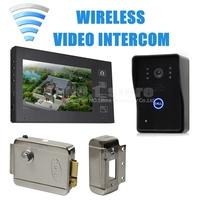 Electronic Lock Wireless Touch Key Video Door Phone Doorbell  With IR Door Camera Home Security Entry Intercom SY806MJW11