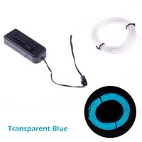 Bloomwin Transparent  Blue 3M/10Ft  EL Wire Cold Lights Waterproof Superb Quality Neon Glowing Tape