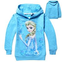 new 2014 cartoon Frozen princess elsa girls hoodies,Baby outerwear Child Long sleeve Kid apparel sweatshirts Free shipping