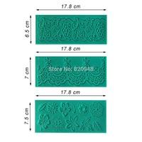 Free Shipping 3 pc/lot lace Fondant 3D Silicone Mould Cake Decoration Baking Sugarpaste Icing-3638 3639 3640