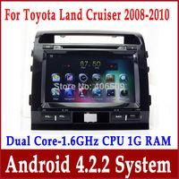 "9"" Android 4.2 Car DVD Player for Toyota Land Cruiser LC200 w/ GPS Navigation Radio TV BT USB DVR Video 3G WIFI 1.6G CPU+1G RAM"