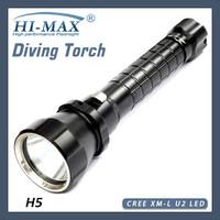 HI-MAX 200Meters 1pcs cree xm-l U2 LED Dive Torch Light scuba diving led flashlight underwater shock resistant flashlight