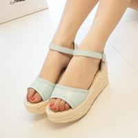 2014 summer bohemia vintage gladiator style women's wedges high-heeled shoes sandals platform open toe shoe,SHO2150