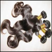Best hot selling item 100% unprocessed silky soft Virgin Peruvian body wave hair 3pcs/lot  NO TANGLE