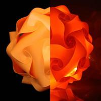 2014 New Fashion IQ Jigsaw Puzzle lamp light orange color pendant lights,size 25cm/30cm/40cm YSLIQO free shipping