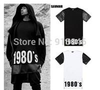 Savnoir 2014 patchwork print short-sleeve men's clothing slim o-neck short-sleeve T-shirt 1980