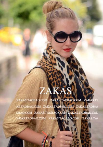 New Style Fashion Hot Leopard Scarf France Band YS Women winter Warm Animal Print Cashere Shawl Pashmina Free Shipping!165*115cm(China (Mainland))