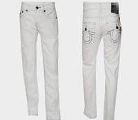 2014 brand  men's summer white  jeans 02