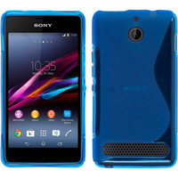500pcs/Lot TPU S  Line GEL Case Cover for  Sony XPERIA E1