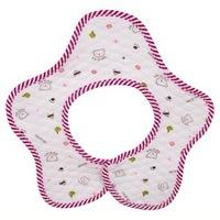 Free Shipping (3 Colors) 100% Cotton Baby Cartoon Waterproof Bib Baby Bib Infant Saliva Towels Baby Wear  Burp Cloths