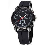 New Tops Wristwatch Fashion Men Army Military Rubber Sport Unisex Analog Quartz Wrist Dress Black White Red Watch Free Shipping