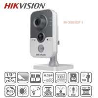 Hikvision DS-2CD2432F-IW Waterproof IP66 IR 1080P 3MP Network Card Mini Security Camera Support POE Dynamic Noise Reduction