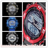 5 Colors Oshen Analog Digital LED Black Red Yellow Date Day Clock Alarm Men's Sports Quartz Wrist Watches  Military wristwatches