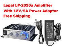 Lepai LP-2020A+ Tripath Class-T Hi-Fi Audio Mini Amplifier with 12V/5A Power Adaptor for sale