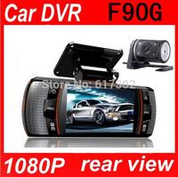 black box F90G ls650W Car DVR  Dual Camera lens1920x1080p 20FPS 2.7' LCD External IR Rear Camera Allwinner Dashcam