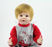 "Realistas 22 "" recém-nascido boneca bebê suave silicone vinil bebê reborn boneca olhos azuis realistas brinquedos baby boy venda quente(China (Mainland))"