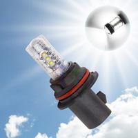 2pcs 9007 HB5 80W Cree LED Xenon White led cars Fog Head lights Daytime Running Bulb auto Lamp parking car light source