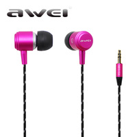 2pcs High quality Original Awei ES Q35 Noise isolation with precise bass 3.5mm In-Ear earphone for iPhone 4 4S 5s Mobile Phones