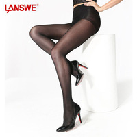 LANSWE New Fashion 40D Full Foot Brand Pantyhose Body Sculpting Sexy Stocking ComfortableTriangle Cotton Crotch Women Tights