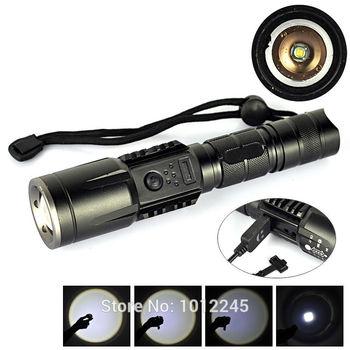 4.2 В 2000 люмен XM-L T6 USB фонарик водонепроницаемый USB фонарик из светодиодов ...