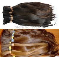 """12""""-26""""inches  Good Quality Soft luster European Human Hair *Russian Hair *Bulk virgin Remy  hair*900grams/lot"""