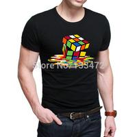 Mens magic cube t shirt Cotton Fashion Bazinga tees short-sleeve T-shirt free shipping product