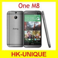 Original Unlocked HTC One M8 cell phones Quad Core 4G LTE network 2GB RAM 16GB storage 3 Cameras Free Shipping