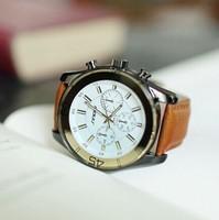 Brand New Fashion Watch Luxury  Sinobi Leather Strap watches Men Quartz Watch  Waterproof Business Men's Watches brand clock