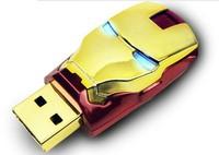 Cheap Ironman Shape 8 16 32GB 64gb Pen drive USB  Memory Stick Free shipping