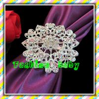 fashion flower rhinestone napkin rings for wedding decorations