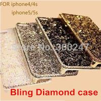 Luxury Hard Aluminum Handmade Bling Diamond Crystal phone Case Cover For iphone 4 4s 5 5s 6 4.7inch H80