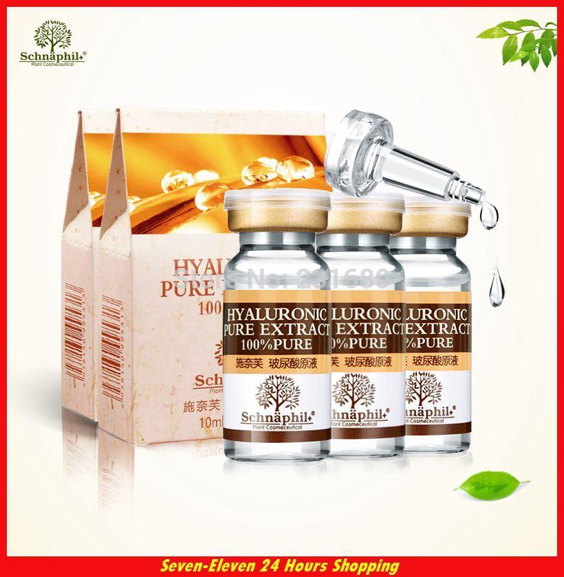 Hot Sale Hyaluronic Acid Liquid Face Makeup Anti Acne Moisturizing Anti Aging Wrinkle Whitening Cream Skin Care Serum 10ml*4(China (Mainland))