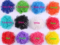 13 packs/lot 2014 new rubber loom bands 12 normal color and mix color loom bands (600pcs + 24 S clip) /bag