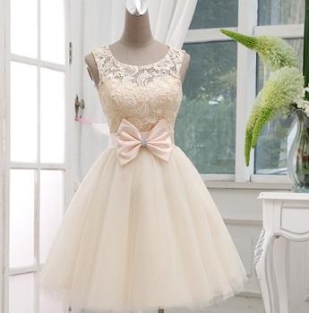 Короткие платья выпускного вечера платье вечернее платье для особых случаев платья короткие дизайн с бантом кружева до выпускного вечера платья красный шампанское Sleevesless