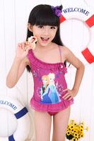 2014 Frozen Swim Children Girls Frozen Swimsuit Bikini Wear Bobysuit Frozen clothing Swimsuit Free Shipping