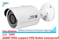 "2015 New DAHUA IPC-HFW4300S 1/3"" 3MP English firmware HD 1080P IP66 support POE Bullet waterproof IR IP Camera Free shipping"