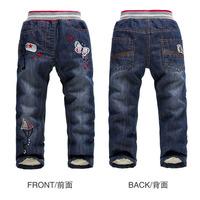 High Quality New KK-RABBIT Brand Winter Children Pants Kids Girls Jeans Warm Cashmere Two Layers Children Boy Trousers ( JA032 )