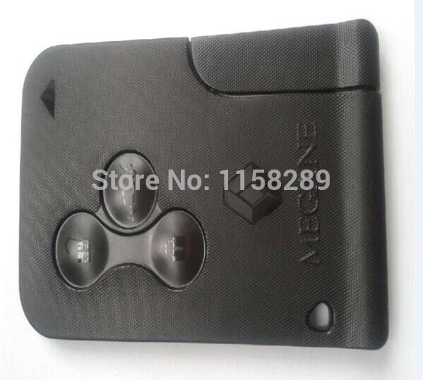 New RENAULT MEGANE SCENIC II CLIO ETC RF TYPE 3 BUTTON REMOTE ALARM KEY FOB CARD(China (Mainland))