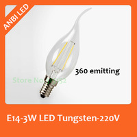 E14 3W Imitation Tungsten Lamp LED candle Bulb,COB Chip 220V,2014 New Arrival Lamp, 360 degree