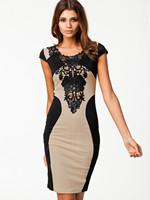 2014 New Fashion Women Summer European Patchwork Lace Embroidery Bodycon Bandage Party Dress Vestido De Renda Curto